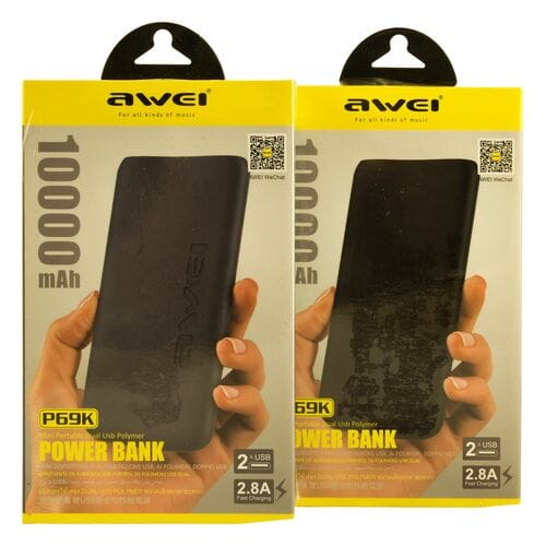 Power Bank Awei P69K 10000 мАч