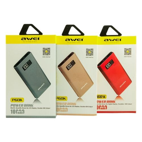 Power Bank Awei P60K 10000 мАч оптом