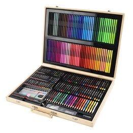 Набор для рисования 251 предмет в деревянном ...