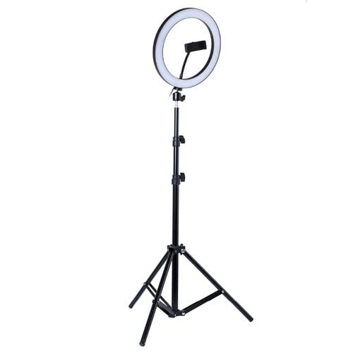Кольцевая светодиодная лампа 26 см со штативом оптом