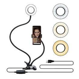 Гибкая кольцевая лампа для селфи с держателем
