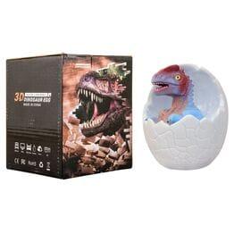 3D светильник динозавр в яйце