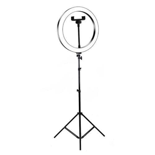 Светодиодная кольцевая лампа 36 см со штативо...
