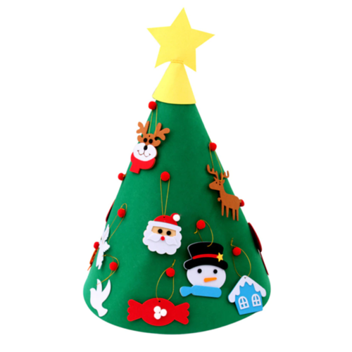 Новогодняя елка из фетра
