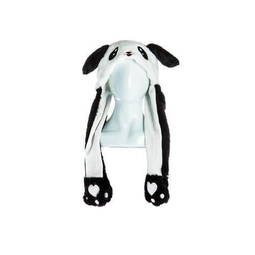 Шапка Панда с двигающимися ушами оптом
