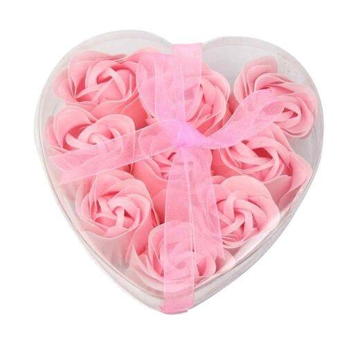 Розы из мыла 9 шт. в прозрачной коробке в фор...