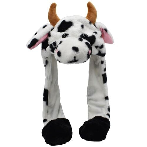 Шапка с двигающимися ушками Корова оптом