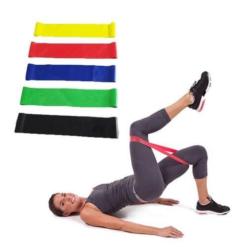 Набор из 5 фитнес резинок Exercise Resistance Belt оптом