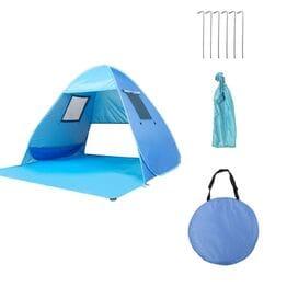Пляжная палатка с окошками